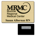 Gold Ultra Brass Name Badge w/ Magnet