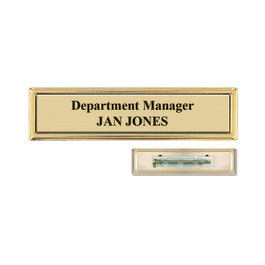 Metal Frame Name Badge w/ Pin