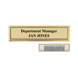 Metal Frame Name Badge w/ Magnet