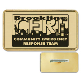Plastic Frame Name Badge w/ Pin