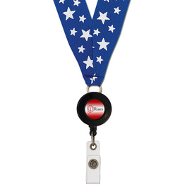 Grosgrain Lanyard w/ ID Badge Reel