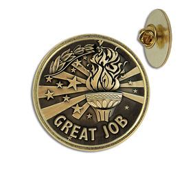 Great Job Lapel Pin
