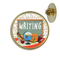 Writing Lapel Pin