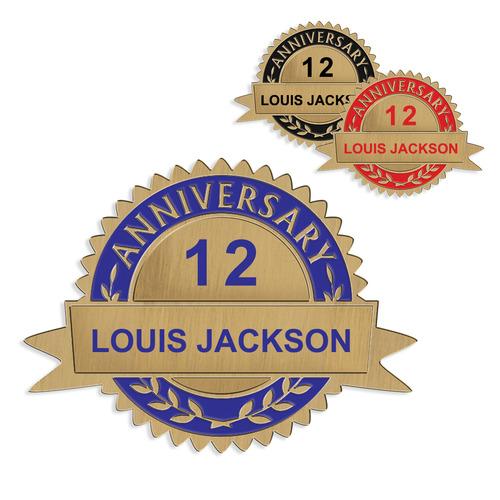 Custom Anniversary Lapel Pin Hodges Badge Company