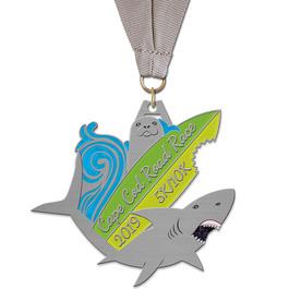 HH Marathon, 5K and 10K Award Medal w/ Grosgrain Neck Ribbon