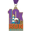 HE Marathon, 5K and 10K Award Medal w/ Grosgrain Neck Ribbon