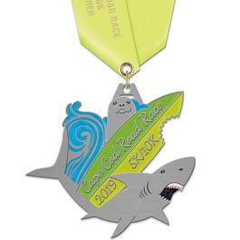 HH Marathon, 5K and 10K Award Medal w/ Satin Neck Ribbon