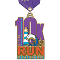 HE Marathon, 5K and 10K Award Medal w/ Satin Neck Ribbon