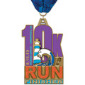 HE Marathon, 5K and 10K Award Medal w/ Millennium Neck Ribbon