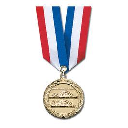 MC Medal w/ Specialty Satin Neck Ribbon