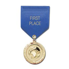 MC School Award Medal w/ Satin Drape Ribbon