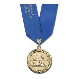 MC Swim Award Medal w/ Satin Neck Ribbon
