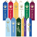 Stock Paw Print Place Ribbons