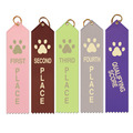 Stock Paw Print Place Award Ribbon