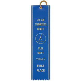 Square Top Award Ribbon w/ Border