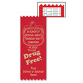 Personalized Drug Free Red Ribbon