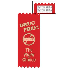 Stock The Right Choice Red Ribbon
