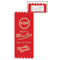 Stock Stop Don't Miss Out Red Ribbon