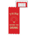 Stock Think Before You Drink Red Ribbon