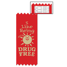 Stock I Like Being Drug Free Red Ribbon