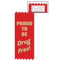 Stock Proud To Be Drug Free Red Ribbon