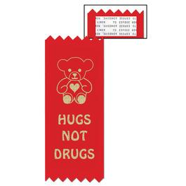 Hugs Not Drugs Red Ribbon