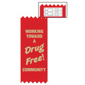 Stock Drug Free Community Red Ribbon