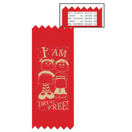 Stock I AM DRUG FREE Red Ribbon