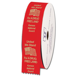Personalized Drug Free Red Ribbon Rolls