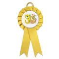 Littleton Rosette Award Ribbon w/ Button Center