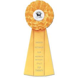 Rutland Rosette Award Ribbon