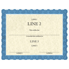 Custom School Certificates - Classic Blue Design