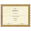 Custom School Certificates - Classic Gold Design