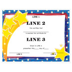Custom School Award Certificates - Stars Design