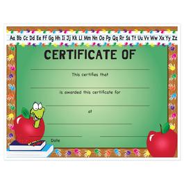 Full Color Stock School Certificates - Apple Design