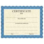 Stock School Certificates - Classic Blue Design