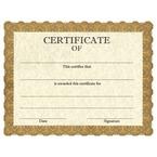 Stock School Certificates - Classic Gold Design