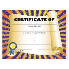 Full Color Stock School Certificates - Scroll Design