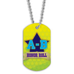 Full Color A-B Honor Roll Dog Tag