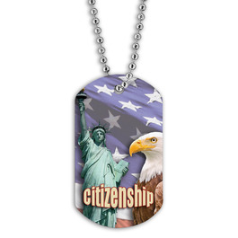Full Color Citizenship Dog Tag