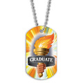Full Color Graduate Torch Dog Tag