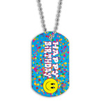 Full Color Happy Birthday Dog Tag