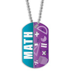 Full Color Math Dog Tag