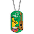 Full Color Music Dog Tag
