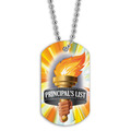 Full Color Principal's List Torch Dog Tag