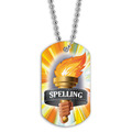 Full Color Spelling Torch Dog Tag