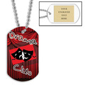 Personalized Drama Club Dog Tag w/ Engraved Plate