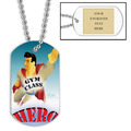 Personalized Gym Class Hero Dog Tag w/ Engraved Plate