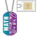 Personalized Math Dog Tag w/ Engraved Plate