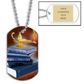 Personalized Scholastic Dog Tag w/ Engraved Plate